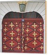 Old Red Door Wood Print