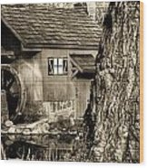 Old Red Mill Wood Print