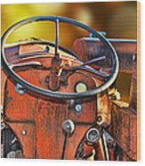 Old Red Tractor Ford 9 N Wood Print