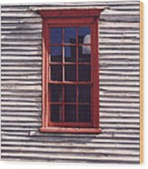 Old Red Window Wood Print