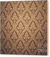 Old Retro Wallpaper In Sepia Wood Print