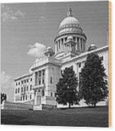 Old Rhode Island State House Bw Wood Print