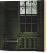 Old Room - Abandoned Asylum - The Presence Outside Wood Print by Gary Heller