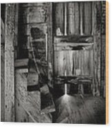 Old Room - Rustic - Inside The Windmill Wood Print by Gary Heller