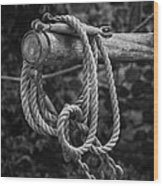 Old Rope Wood Print