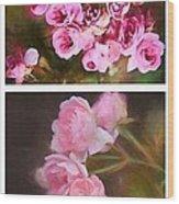 Old Roses Vertical Wood Print