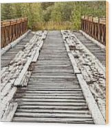 Old Rotten Abandoned Bridge Leading To Nowhere Wood Print