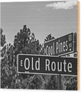 Old Route 66 And Cool Pines Wood Print