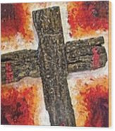 Old Rugged Cross Wood Print