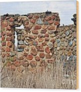 Old Ruin Abandoned Wood Print