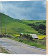 Old Rural Road On The Way To Heavenly Lands Wood Print