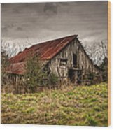 Old Rustic Barn Wood Print