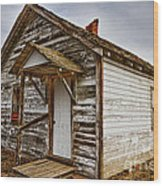 Old Rustic Rural Country Farm House Wood Print