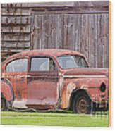 Old Rusty Car Wood Print