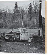 Old Rusty Gmc Pickup Wood Print