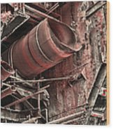 Old Rusty Pipes Wood Print