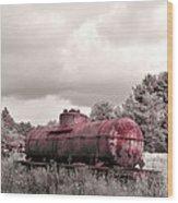 Old Rusty Tanker  2 Wood Print