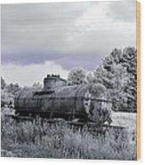 Old Rusty Tanker 3 Wood Print