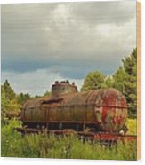 Old Rusty Tanker Wood Print