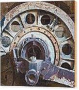 Old Rusty Vintage Industrial Machinery Wood Print