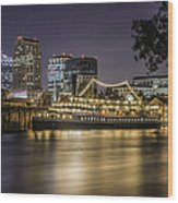 Old Sacramento California... Wood Print