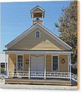 Old Sacramento California Schoolhouse 5d25543 Wood Print