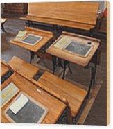 Old Sacramento California Schoolhouse Classroom 5d25778 Wood Print by Wingsdomain Art and Photography