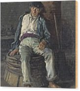 Old Sailor Wearing A Beret, 1889 Wood Print
