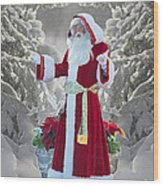 Old Saint Nick Wood Print