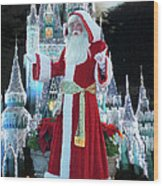 Old Saint Nick Walt Disney World Digital Art 02 Wood Print