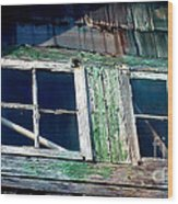 Old Salt Window Wood Print