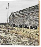 Old Salted Building Wood Print