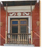 Old San Juan Balcony Wood Print
