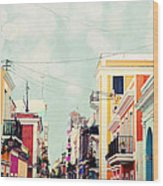 Old San Juan Special Request Wood Print