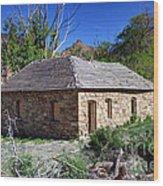 Old Sandstone Brick Farm House Nine Mile Canyon - Utah Wood Print