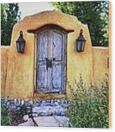 Old Santa Fe Gate Wood Print