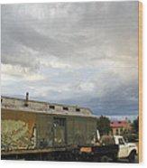 Old Santa Fe Railyard Wood Print