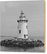 Old Saybrook Connecticut Lighthouse Wood Print