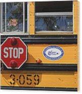Old School Bus 1 Wood Print