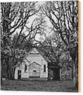 Old School House In The Woods Wood Print by Thomas J Rhodes
