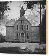 Old School House Wood Print