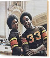 Old School Roller Derby With Delores Tucker And Alvin Mallory Of The San Francisco Bay Bombers Wood Print