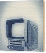 Old School Television Wood Print