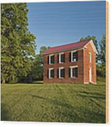 Old Schoolhouse Wood Print by Brian Jannsen