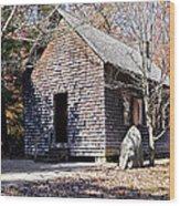 Old Schoolhouse Building Wood Print
