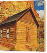 Old Schoolhouse Near Capital Reef Utah Wood Print by Jeff Swan