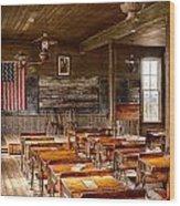 Old Schoolroom Wood Print