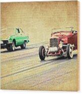 Old Scool Racing Wood Print