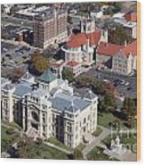 Old Sedgwick County Courthouse In Wichita Wood Print