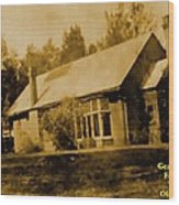 Old Sepia Photo Old Farmhouse H A Wood Print